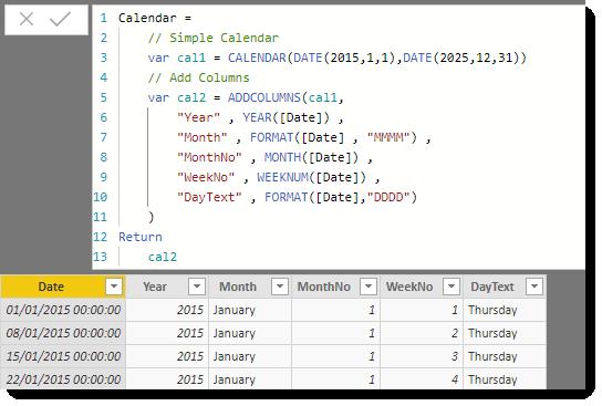 Adding more columns to the calendar