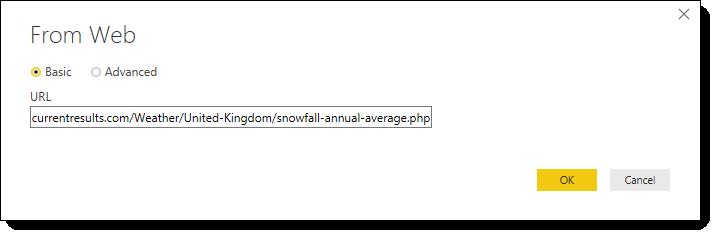 Web address for data