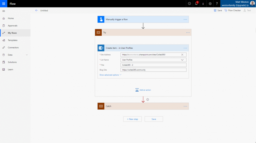 Setting and Updating SharePoint Hyperlink fields in Flow and Logic